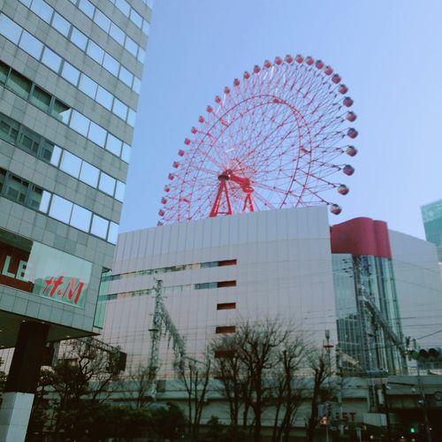 #Osaka # hep five Osaka,Japan HEP FIVE City Natural Beauty City Tree Skyscraper Ferris Wheel Modern Urban Skyline Sky Architecture Building Exterior Built Structure