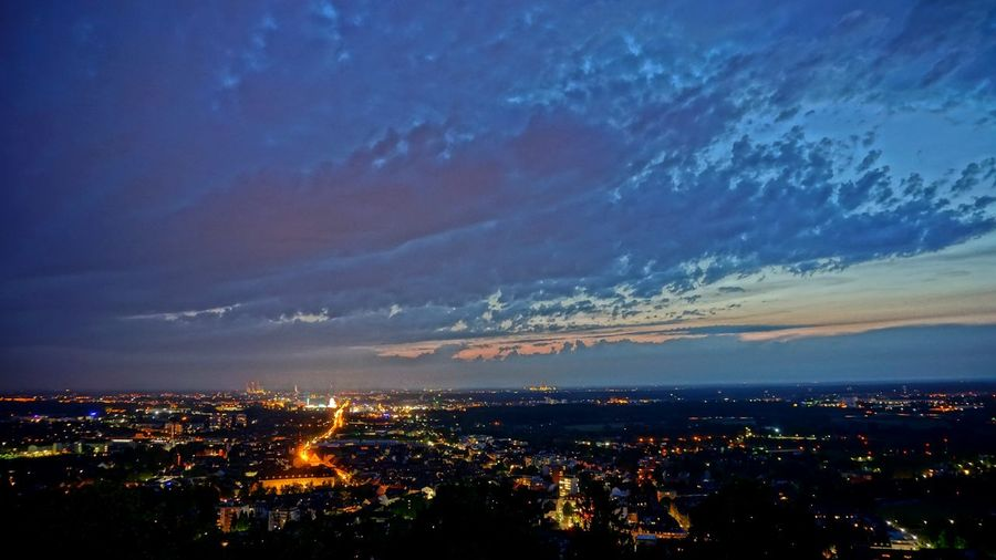 Durlach Turmberg Karlsruhe Evening Light And Shadow Nightphotography HDR Night Sky Taking Photos Night And Day Colors View From Above Cities At Night