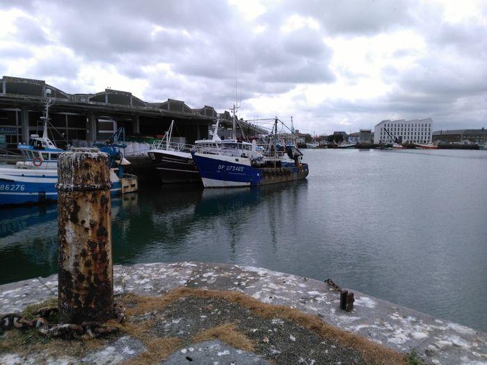 Water Sky Outdoors No People Boats Dieppe Harbor