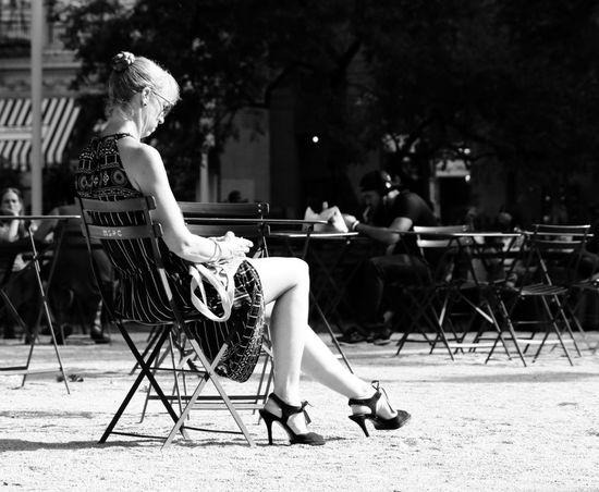 Sunbath Sitting One Woman Only Women