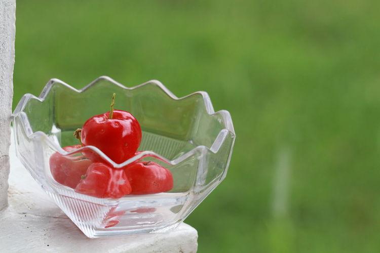 Red cherries in