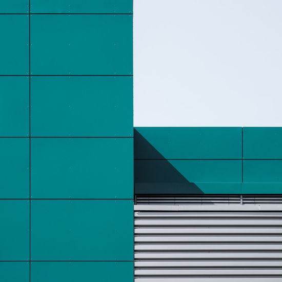 Architecture Built Structure Building Exterior Pattern Wall - Building Feature Building No People Green Color Day Full Frame Blue Backgrounds Turquoise Colored Outdoors Sunlight Low Angle View Close-up Window Nature Metal Office Building Exterior