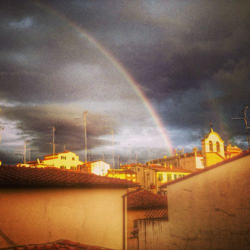 Rainbow over the Rooftops of Florence Hello World Eye Em Nature Lover