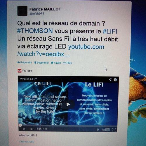 IT Network Lifi by Thomson avaible un april bases on led light technology geek data internet informatique mobile