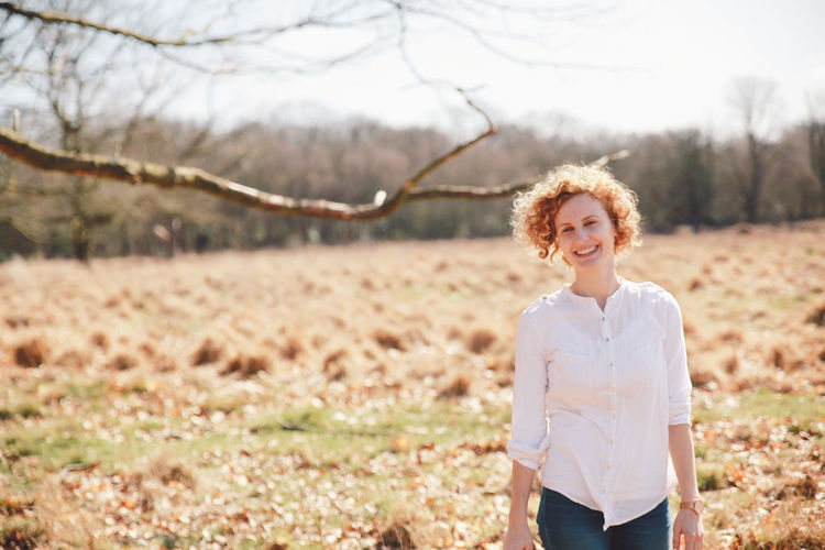 Blonde Blue Jeans Curly Hair Girl White Shirt Richmond Park, London Smile Original Experiences Feel The Journey Natural Light Portrait People And Places Connected By Travel