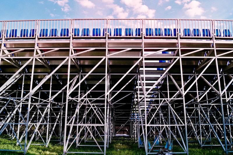 Architecture Railing Stadium Stadium Atmosphere Stadium Seating Architecture Built Structure Complexity Day Metal Metal Structure Metallic No People Outdoors Railing Railings Seat Seats Sky Soccer Field Stadium Architecture World Cup 2018