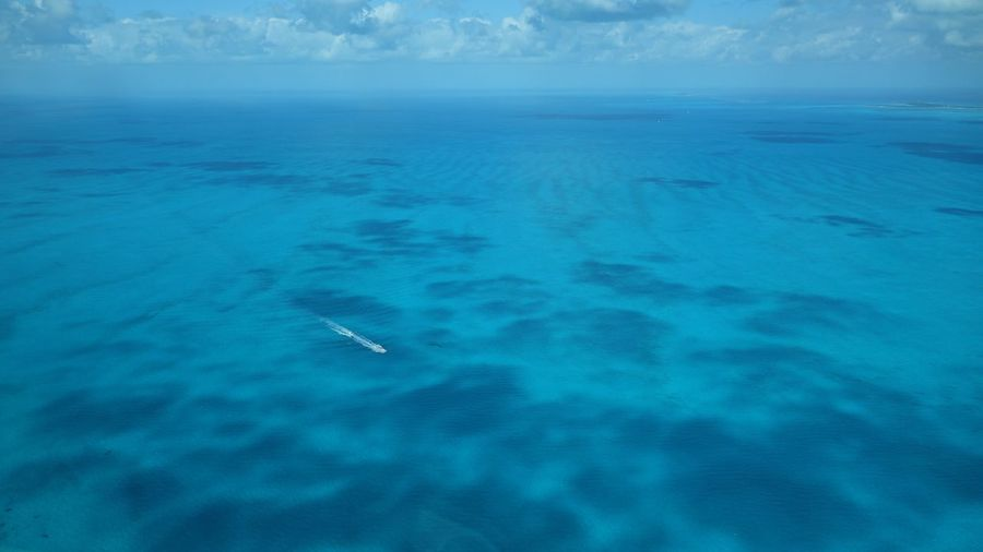Big blue #Bahamas - the northern Exuma Cays Aerial View Bahamas Sky And Clouds The Natural World Beauty In Nature Sea
