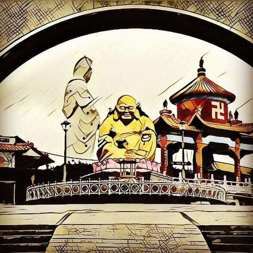 Yellow Buddha Rainy Day