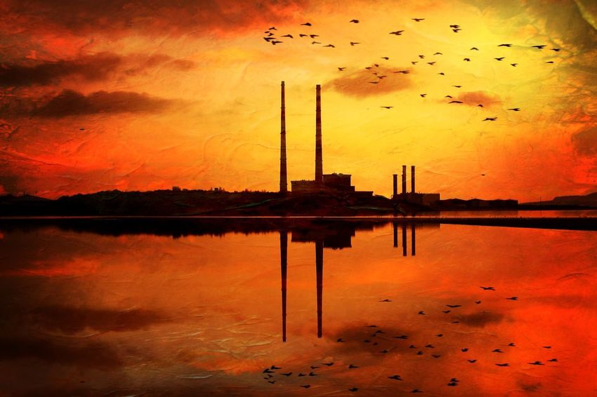 Poolbeg Check This Out EyeEm Best Shots EyeEm Best Shots - Architecture The Architect - 2015 EyeEm Awards NEM Painterly The Week On EyeEm NEM Submissions Weather Sunset Peace And Quiet
