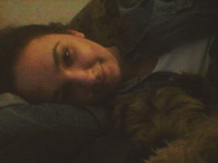 My Dog And I Say Good Night :) Love Sleeping With This Dog ♥