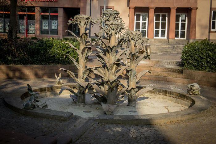 Animals Brunnen Brunnenfigur Building Exterior Bunny  Herxheim Plants Rheinland-Pfalz  Tabak