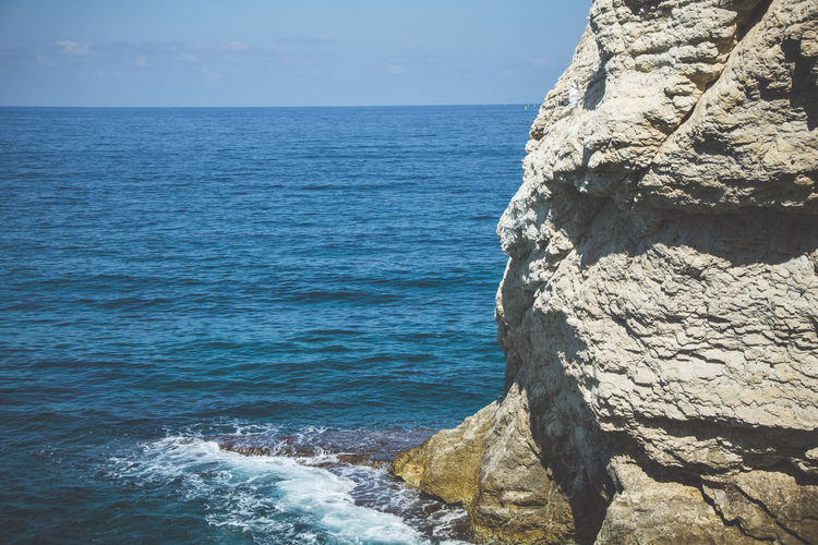 Rock formation by sea