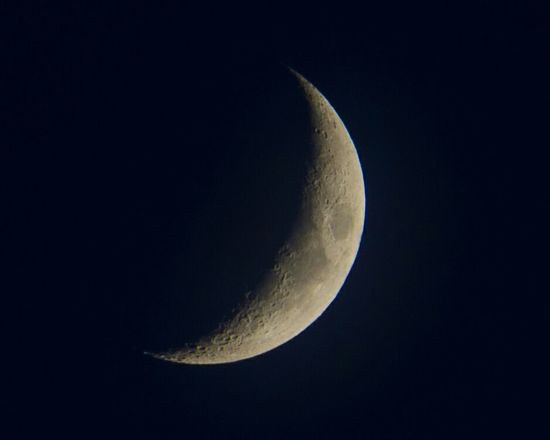 What a lovely Crescent Moon out tonight! Moon Moonlight Crescent Moon Crescent Nightsky Nightphotography Craters Nature