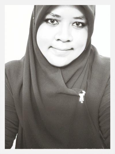 Me Myself And I Selfportrait Blackandwhite Indonesian Hijabers