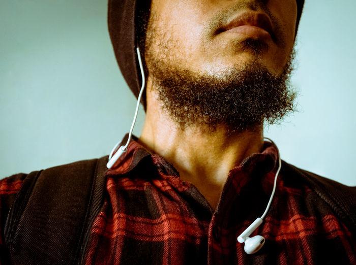Close-up of a man