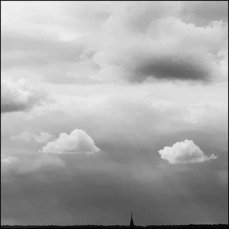 the direct contact Church Tower Beauty In Nature Blackandwhite Cloud - Sky Contact Lawoe Light Fingers No People Outdoors Sky Symbolism