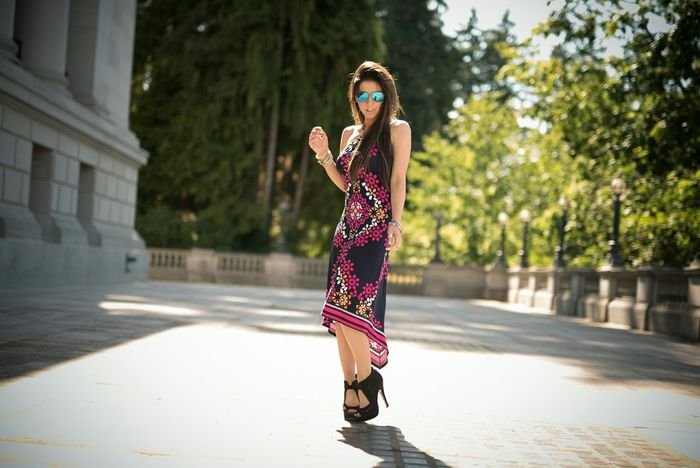 out and about on weekend adventures Photoshoot Dress HighHeels Outdoors Summer Coolshades Fashion Fun Longhair Hello World photo by