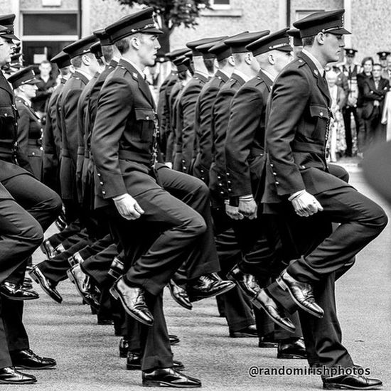 Collected Community . . . about to graduate from The Garda Training College in Templemore Tipperary Eye4black&white  Monochrome