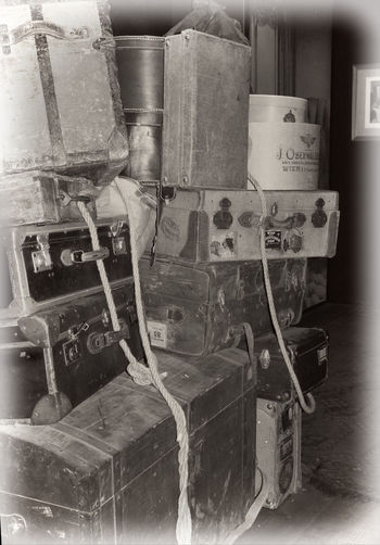 Antique Group Of Objects Journey Large Group Of Objects Luggage Securing Olden Times Man Made Object No People Old