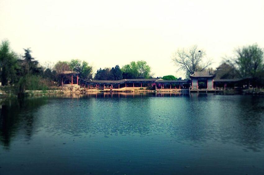 China VSCO Kaifeng Of China Agua Edificios Antiguos Albor Azul♥