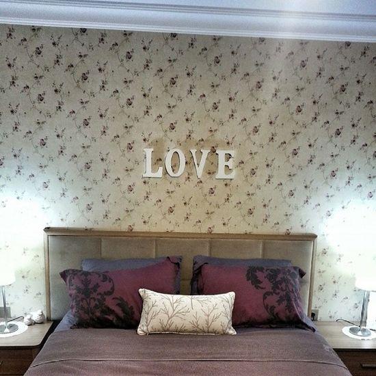 Bugunun hayata gecen projesi de bu olsun..Harfler sonunda olmasi gereken yerde ? ? Love Amour Chambre Bedroom homesweethome homestyle bed