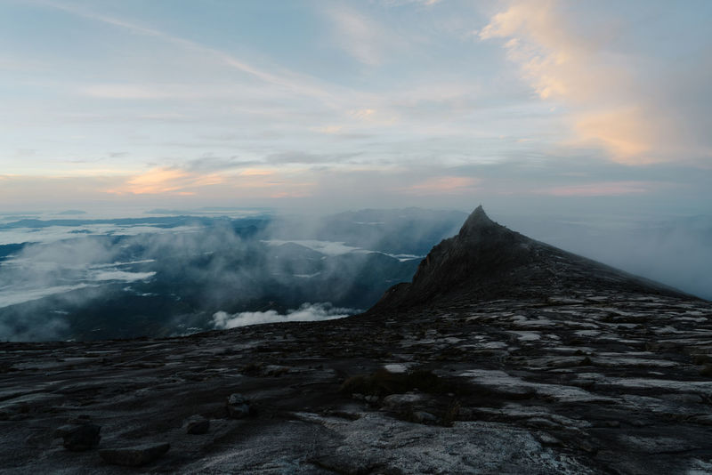 Mount Kinabalu Beauty In Nature Day Mountain Nature No People Outdoors Scenics Sky Sunset Tranquil Scene Tranquility Water