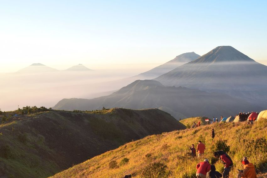 Sindoro mountain from Prau Praumountain INDONESIA Wonderful Indonesia Pesonaindonesia Mountain Sunset Beauty Forest Mountain Peak Hiker First Eyeem Photo