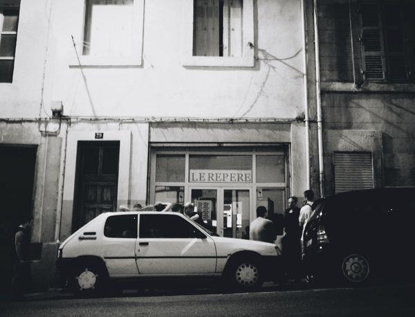 Building Exterior Cars Night Club People Street Streetphotography Blackandwhite