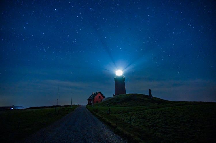 Lighthouse Denmark EyeEmNewHere Night Star - Space Building Exterior Architecture Sky Building Built Structure Lighthouse Astronomy Space And Astronomy EyeEmNewHere