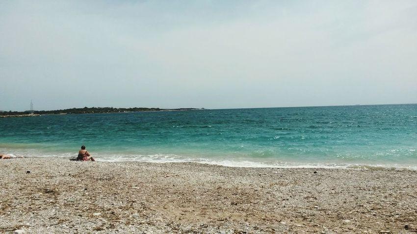 Greece Sea Beach Horizon Over Water One Person Sky Passionfortravel Explore The World Beauty In Nature Viajera Wanderlust Seetheworld  Lovefortravel