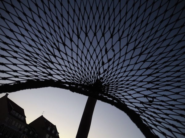 Sunrise Fishernet City Sky Architecture