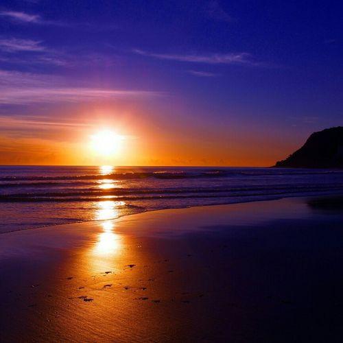 Beach Sunrise Taking Photos