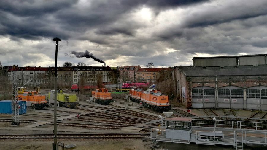 Cloud - Sky Sky No People Architecture Dramatic Sky Built Structure Storm Cloud City Outdoors Building Exterior Cityscape Day Berlin Cityscape Urban Skyline City Shunting Yard Switchyard The Secret Spaces The Street Photographer - 2017 EyeEm Awards Neighborhood Map Berlin Love Discover Berlin