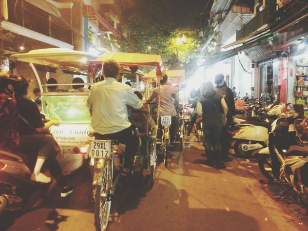 Cyclo Old Quarter, Hanoi Night Lights