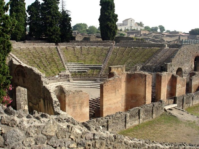 Ancient + Modern Live Side By Side   Amphitheater   Pompeii    Italy   Vesuvius   Travel   This Week On Eyeem