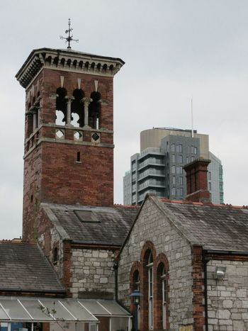 Towers old & new Tower Red Brick 19th Century Buildings Slateroof Weather Vane Tower Block  Appartment Block Architecture Cityscapes Cork City Ireland