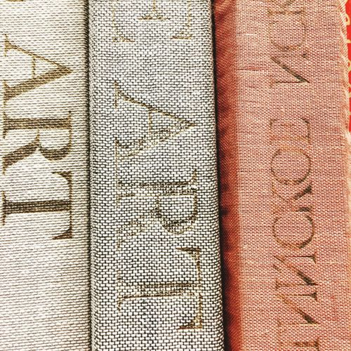 Art book spines Art Textured  Book Spines Book Library Full Frame Pattern Backgrounds Textured  No People Textile Close-up Detail Repetition Still Life Art And Craft