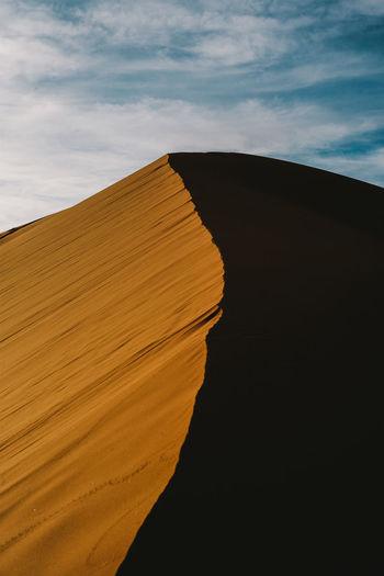 Desert Deserts Around The World Erg Chebbi Sahara Sunrise TIP Shadow Split Hill Fine Art Photography