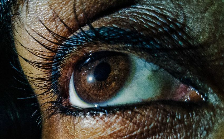 there lies a world between those muscles Eyeball Eyelash Eyesight Human Eye Portrait Iris - Eye Sensory Perception Looking At Camera Full Frame Beauty