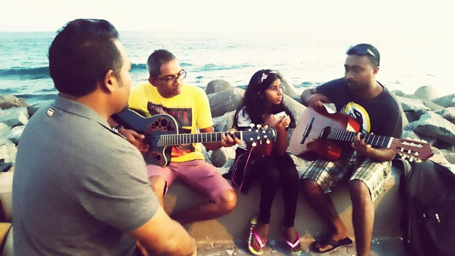 THESE Are My Friends practicing before the gig. Hanging Out Enjoying Life Music Hiyani Band Maldives