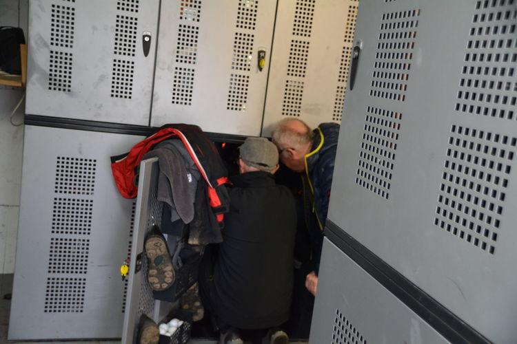 Men In Locker Room