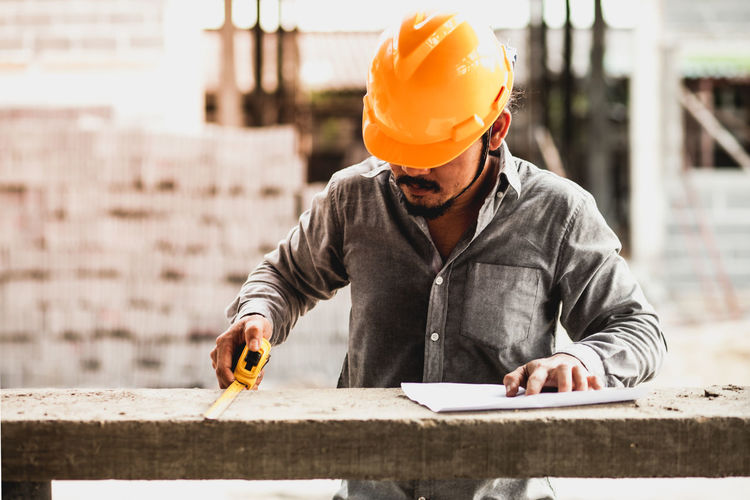 Man working on construction site