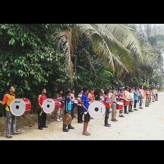 pelatihan drumband hari ke-2 Kukerta Sumberjaya
