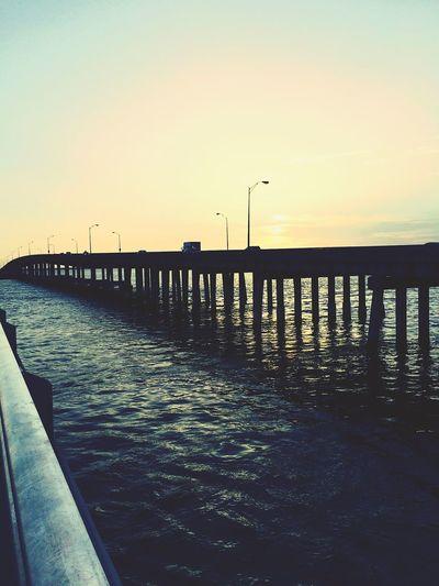 Good Morning Sunrise Taking Photos Taking Photos Water Beautiful View Ocean Bridge View Amazing View