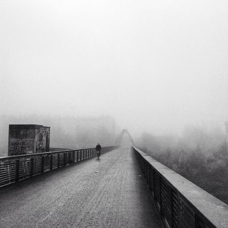 Foggy morning run