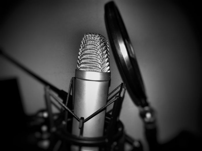 Microphone Studio Indoors  Technology Sound Recording Equipment Close-up No People Black And White Blackandwhite Recording Music EyeEmNewHere Welcome To Black