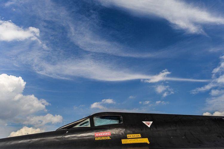 USAF Fighter Black Sr71 SR71 Blackbird Supersonic Lockheed Sky Clouds USA