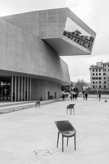 MAXXI Rome Black & White MAXXI Roma Modern Architecture Architecture Arts Culture And Entertainment Blackandwhite Building Exterior Built Structure Day Outdoors