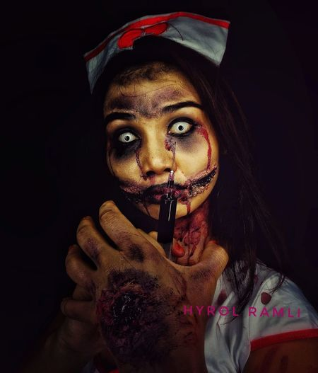 Nurse Ngesot from Java Looking At Camera Portrait One Person Close-up Vampires Make-up Sfx Makeup Makeupartismalaysia