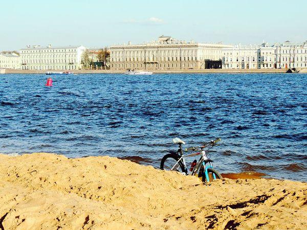 Neva River Neva Bike Beach Sankt-peterburg Spring Sunny